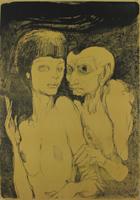 Ernst Fuchs: Das ungleiche Paar