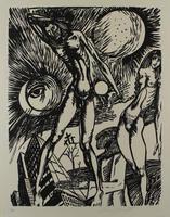 Ernst Fuchs: Entzweiung im Untergang - Aus: Kataklysmen