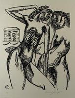 Ernst Fuchs: Die Badenden - Aus: Kataklysmen