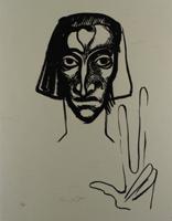 Ernst Fuchs: Der Zeuge - Aus: Kataklysmen