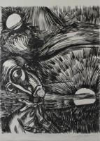 Ernst Fuchs: Gehängt von oben - Aus: Kataklysmen