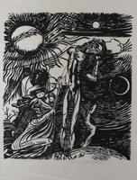Ernst Fuchs: Sebastian - Aus: Kataklysmen