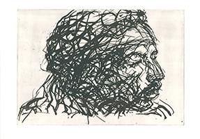 Max Uhlig: Seitlicher Kopf Jimmi Hendrix 2