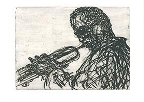 Max Uhlig: Miles Davies mit Instrument