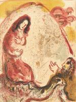Marc Chagall: Rachel entwendet die Götzenbilder ihres Vaters