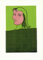 Enrico Baj: Fille fond vert