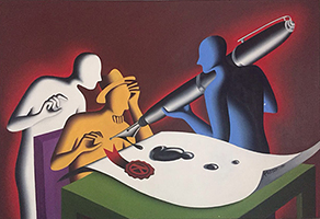 Mark Kostabi: Font of Wisdom