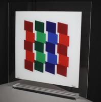 Geneviève Claisse: Composition geometric - Rouge/Vert/Bleu