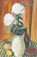 Friedrich Einhoff: Stilleben mit weißen Blumen