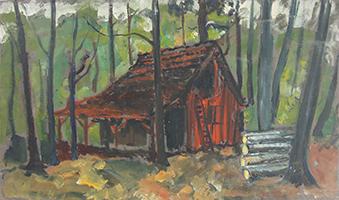 Friedrich Einhoff: Waldhütte