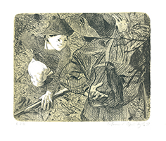 Johannes Grützke: Freiheitsfreund trifft einen andern im Wald beim Scheißen