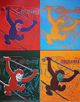 Andy Warhol: Four Monkeys - GROSS
