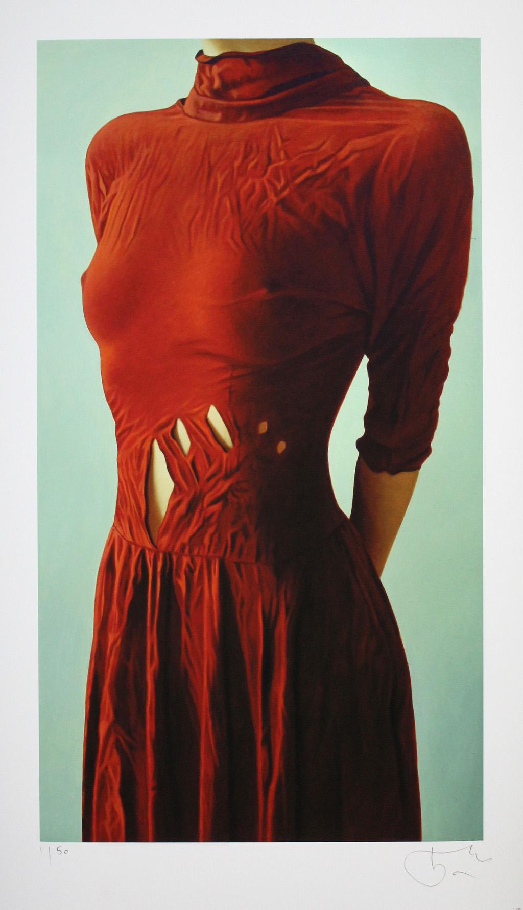 willi kissmer das rote kleid handsigniert und nummeriert. Black Bedroom Furniture Sets. Home Design Ideas