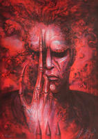 Hans-Rudolf Giger: Future Kill 2 - Red Lithograph