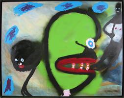 Volkmar Schulz-Rumpold: Grünkohlkopf mit roten Lippen