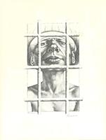 Rudolf Hausner: Adam, hinter Gitter