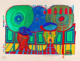 Friedensreich Hundertwasser: Ein Regentag mit Walter Kampmann