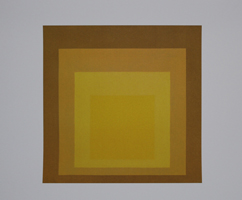 Josef Albers: Study for homage to the square: Departing in yellow