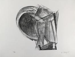 Rudolf Belling: Entwurf für Metallplatten und Draht II