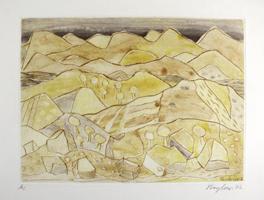 Eduard Bargheer: Sizilianische Landschaft