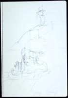 Joseph Beuys: ohne Titel (Komposition mit Frauenkopf)