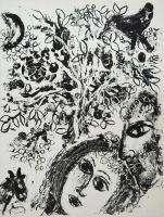 Marc Chagall: Pärchen vor dem Baume
