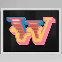 Ben Eine: New Circus 'W'