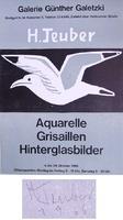Hermann Teuber: Aquarelle, Grisaillen, Hinterglasbilder