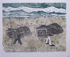 Hermann Teuber: ohne Titel (Strandkörbe)